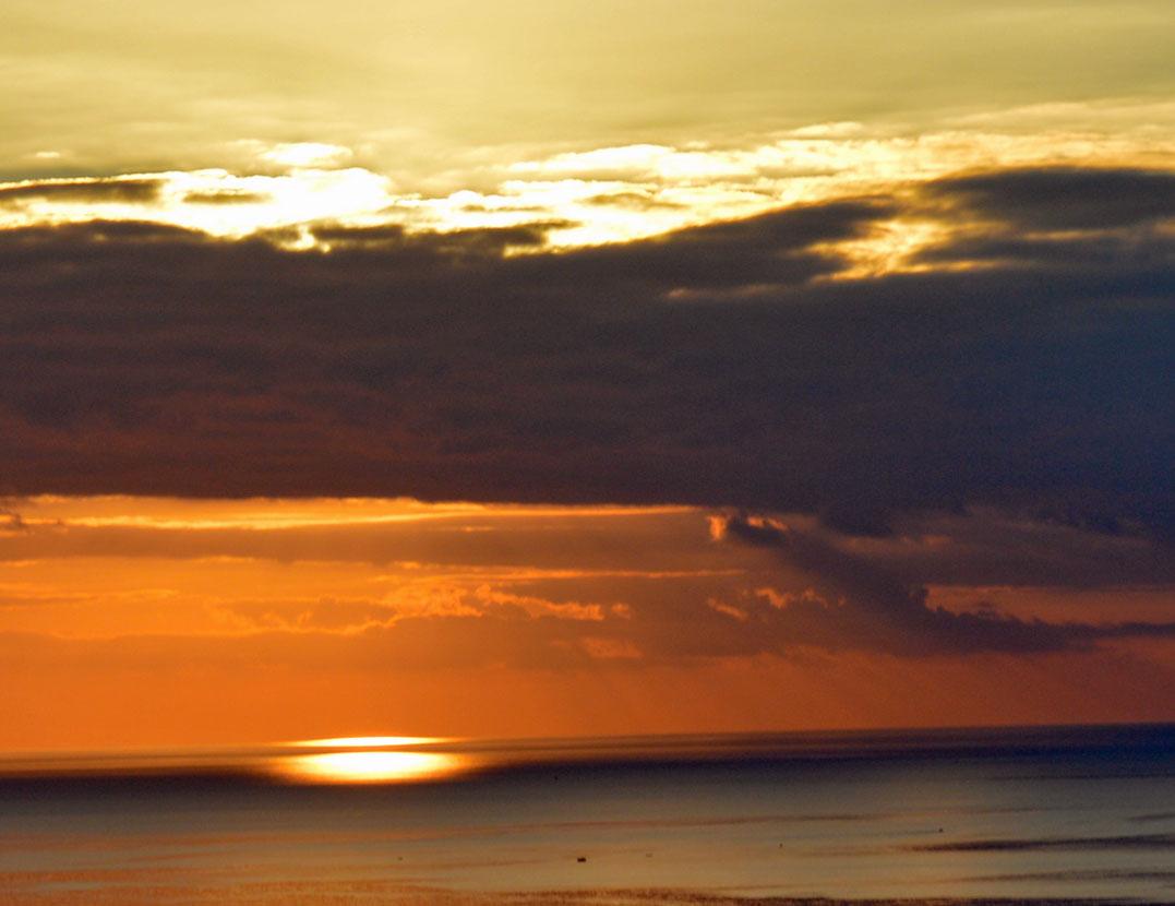 Cilentoküste, Sonnenuntergang über dem Meer